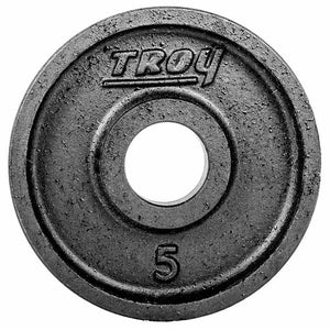 Troy Premium Cast Iron 5lb Deep Dish Black Olympic Plate.