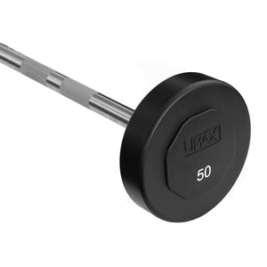 Umax U2 TPU Urethane Fixed Straight Barbell - 50 lbs.