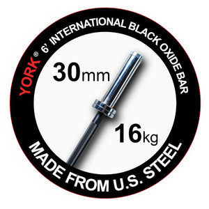 York 6' International Black Oxide Bar.