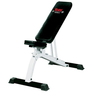 York Flat to Incline Bench in incline position.