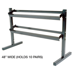 York Heavy Duty Two Tier Dumbbell Rack