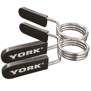 York 2″ Spring Collars w/ Rubber Handles – Chrome (Pair)