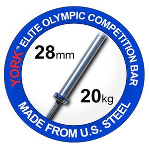 York 7' Olympic Elite Competition Bar Made in USA