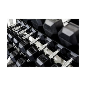 York Barbbell Commercial Rubber Hex Dumbbell 55-100lbs