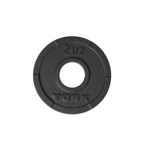 York G2 Olympic Cast Iron Interlocking Grip 2.5 lb Plate.