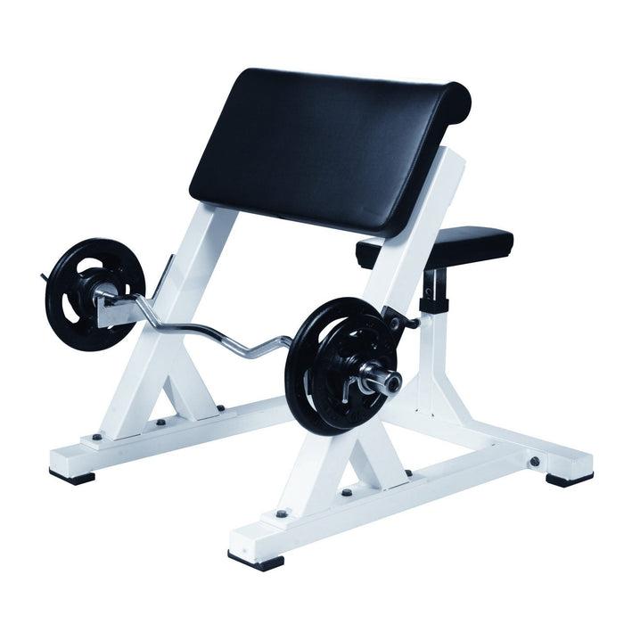 York STS Commercial Preacher Curl Bench