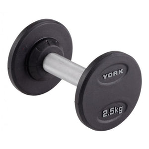 York Pro Style Rubber Dumbbells 5 lbs