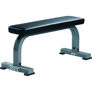 York Barbell Commercial Flat Bench  Silver Frame