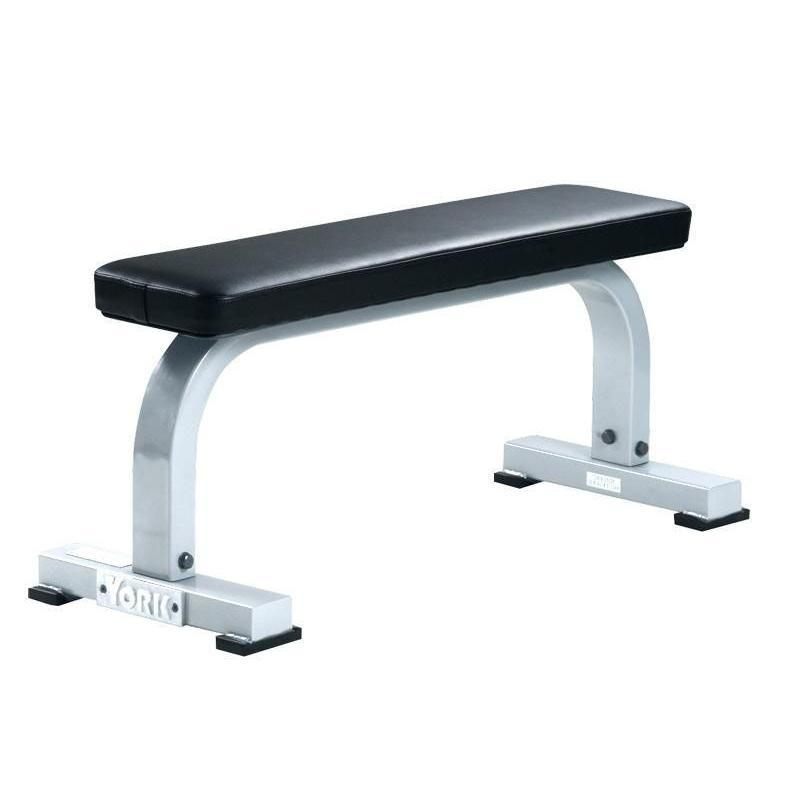 York Barbell Commercial Flat Bench White Frame