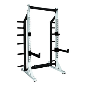 York STS Commercial Half Rack with a white frame.