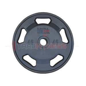 INTEK Champion Series 45 lb Rubber Olympic Plate.