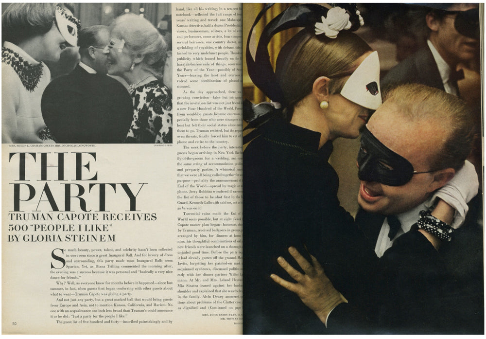 Style Archive: Truman Capote's Black & White Ball