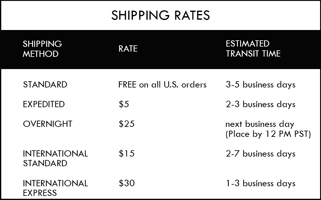 Aquelarre Shipping Rates