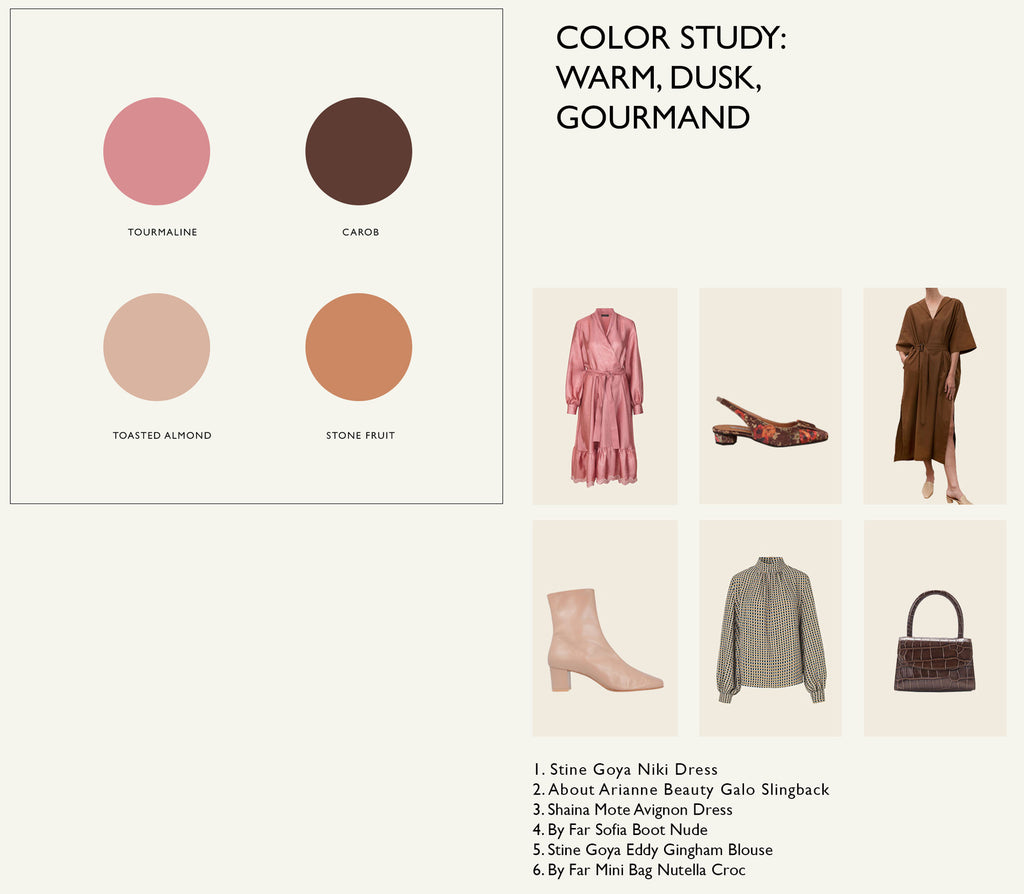Color Palette: Warm, Dusk, Gourmand