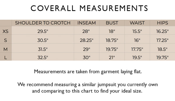 Coverall Measurement Guide
