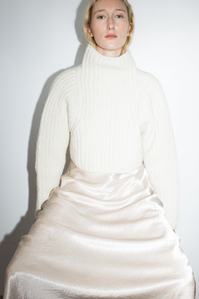 Shaina Mote Crop Turtleneck Crema