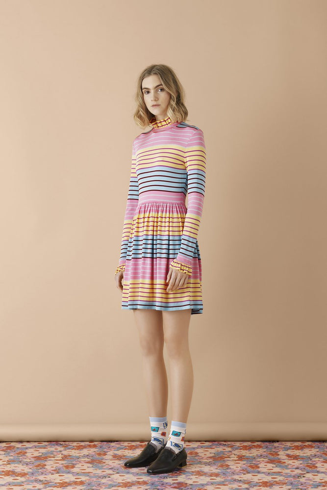 Stine Goya Baby Striped Mini Dress