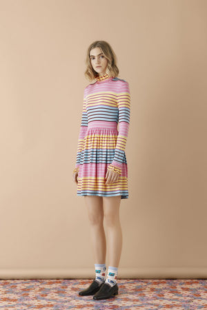 Load image into Gallery viewer, Stine Goya Baby Striped Mini Dress Dresses