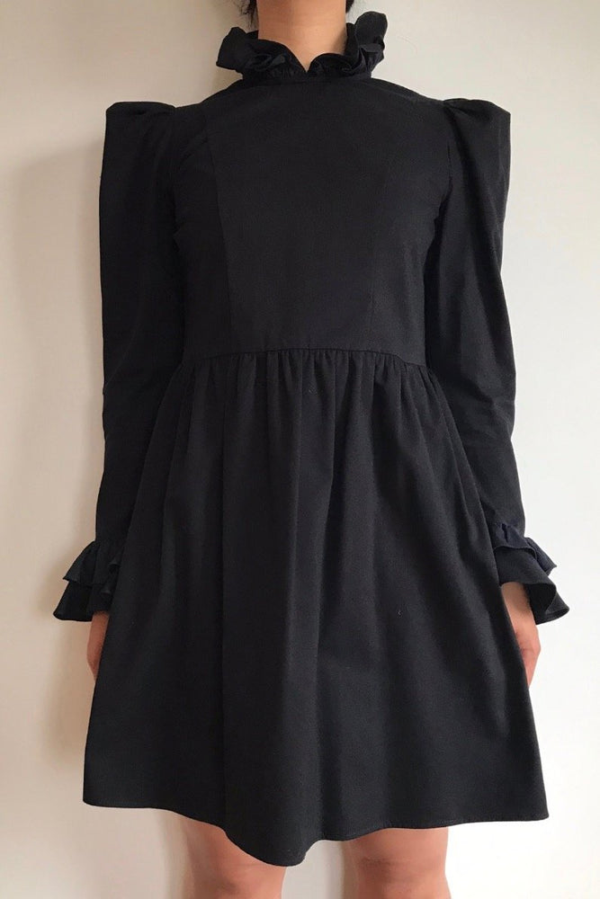 Load image into Gallery viewer, Batsheva Mini Prairie Dress Black Dresses