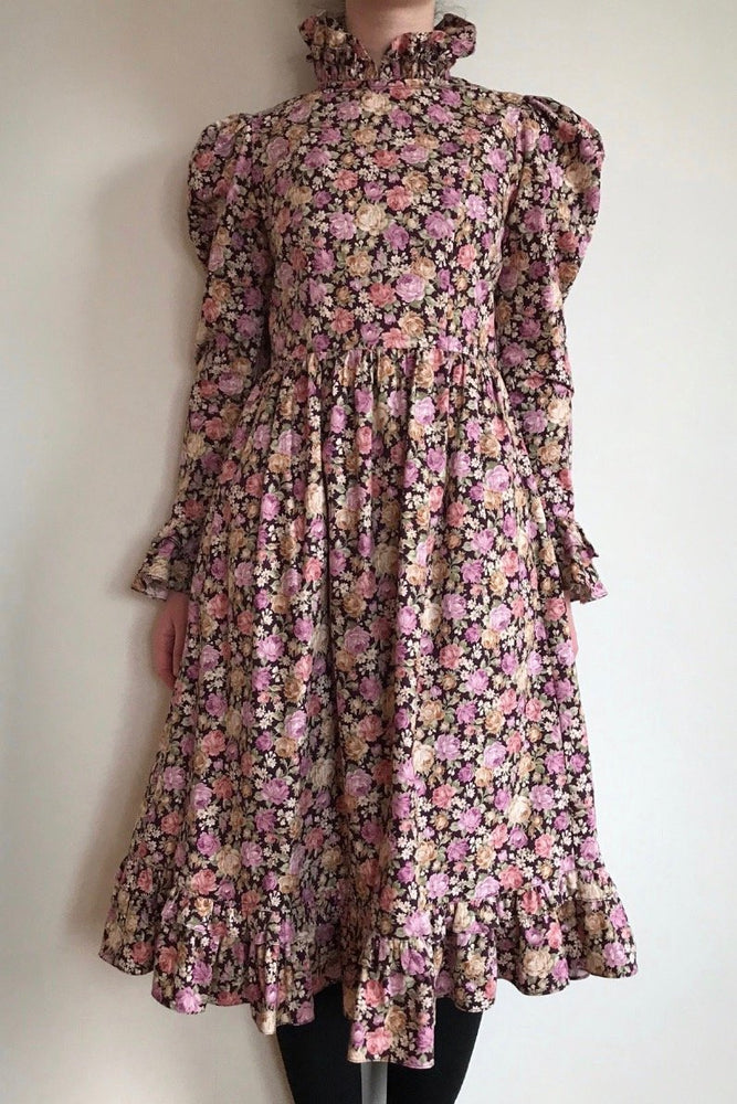 Batsheva Prairie Dress Rose Floral Print Dresses