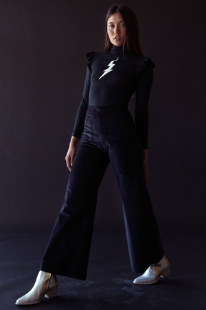 Load image into Gallery viewer, Sugarhigh Lovestoned Bowie Turtleneck Black