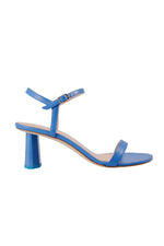 By Far Magnolia Sandals Marine Blue Leather