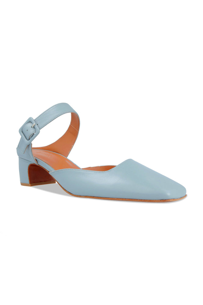 By Far Mira Mary Janes Blue Leather