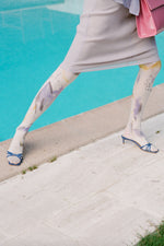 By Far Shoes Libra Sandals Blue Patent Leather