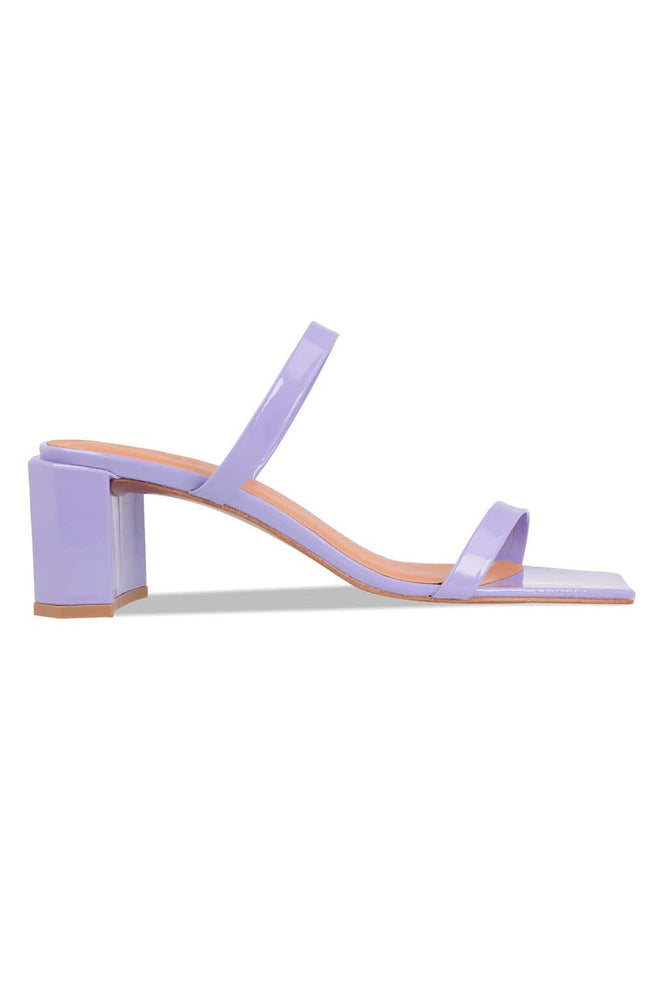 BY FAR Tanya Sandals Lilac Patent Leather