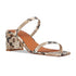 BY FAR Tanya Sandals Snake Print Leather