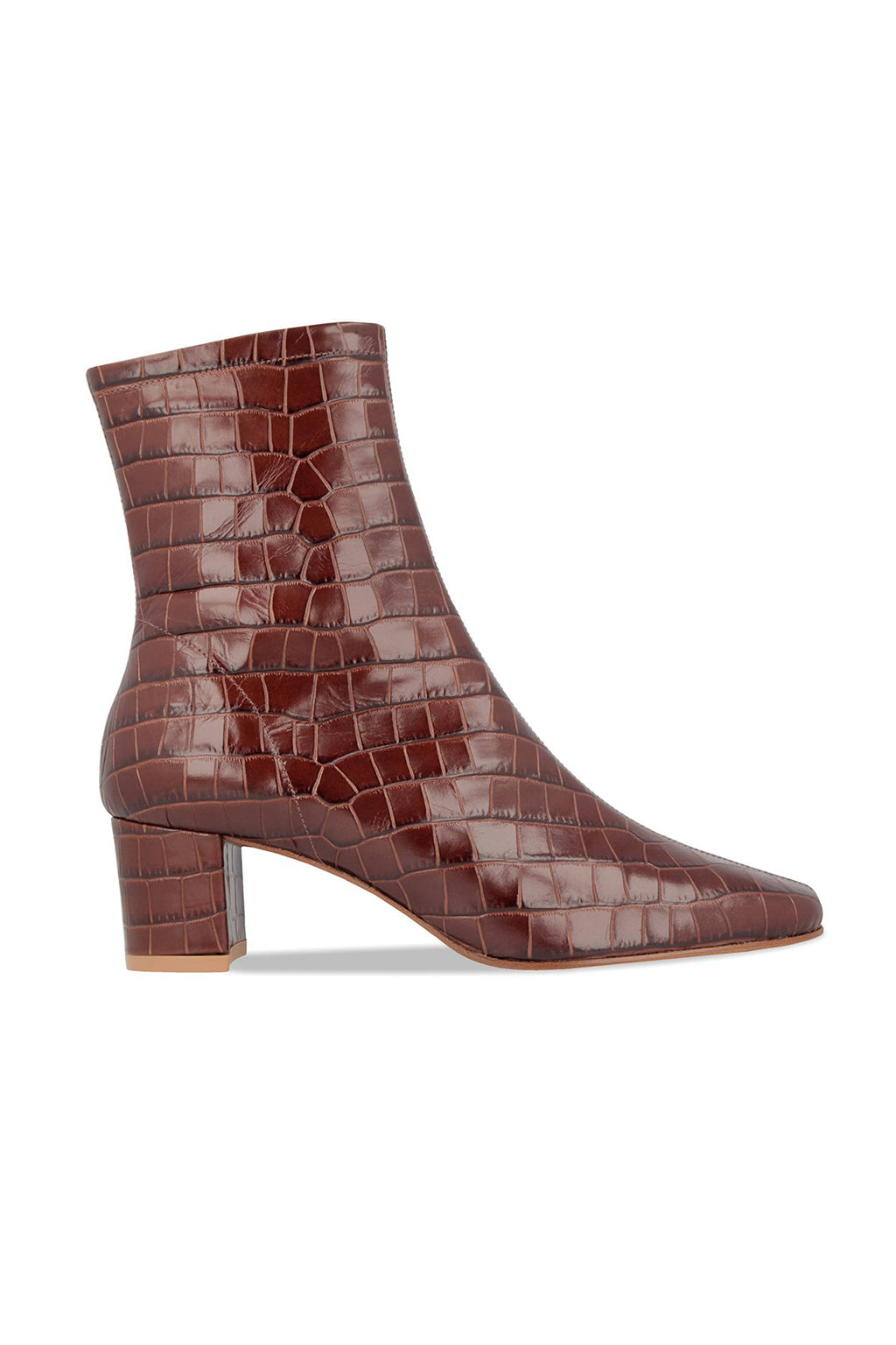 0e546e180e0 BY FAR Sofia Boots Nutella Croco Embossed Leather