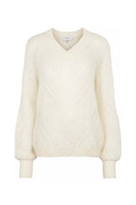 Just Female Garla Knit Sweater Off White