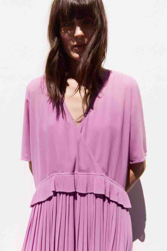 Just Female Jose Midi Dress Iris Orchid