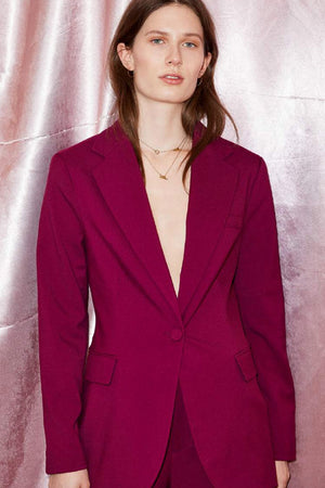 Load image into Gallery viewer, Just Female Max Blazer Magenta