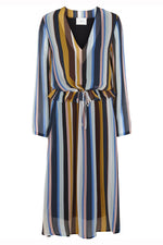Just Female Romain Striped Midi Dress