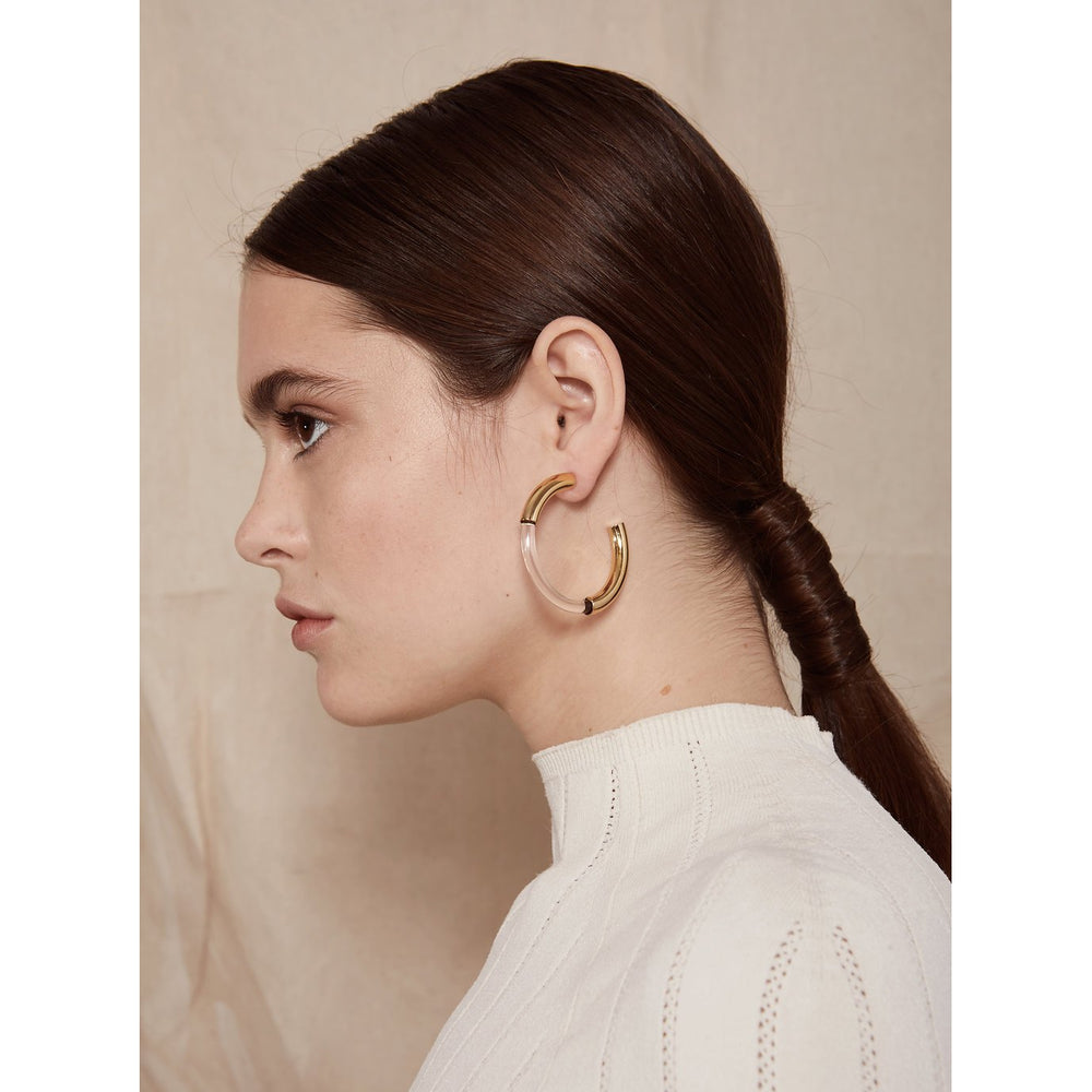 Lady Grey Mirage Lucite Hoop Earrings