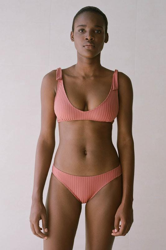 Paloma Wool Diablito Two Piece Bikini Dark Pink Swim