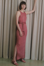 Paloma Wool Simona Maxi Dress Dark Pink