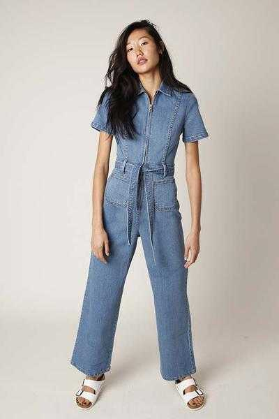 Load image into Gallery viewer, Rachel Antonoff Sal Jumpsuit Blue Jean