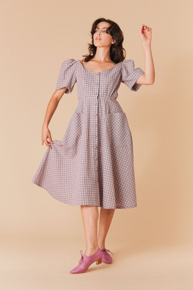 Load image into Gallery viewer, Dorothy Gingham Dress
