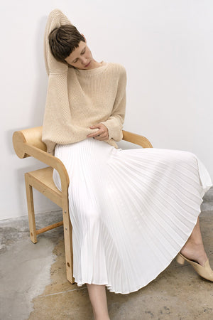 Shaina Mote Aster Pleated Skirt Salt Dresses