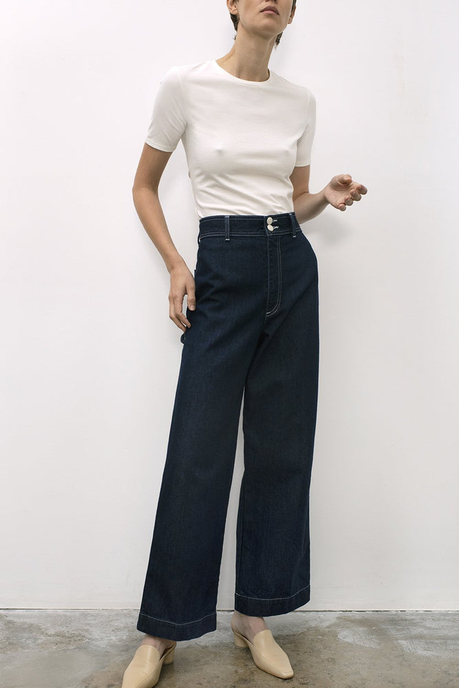 Shaina Mote Utility Pants Indigo Denim Bottoms