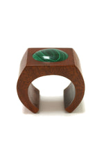 Sophie Monet Malachite Moon Cuff