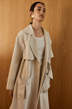 Load image into Gallery viewer, St. Agni Neda Trench Coat