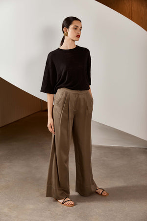 St. Agni Patti Tencel Pants Olive