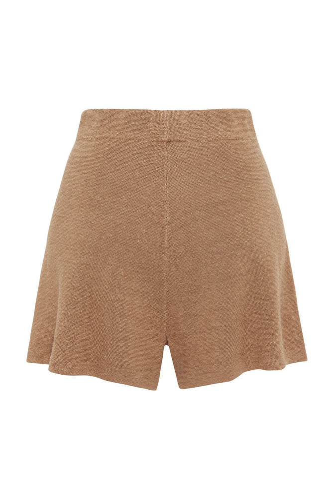 Load image into Gallery viewer, St. Agni Spencer Knit Linen Shorts Almond