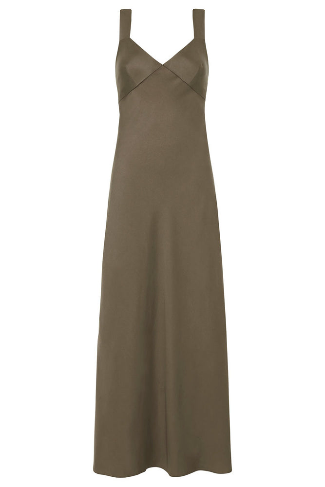 St. Agni Zoe Slip Dress Olive