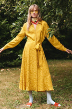 Stone Goya Baily Dress Yellow Swirl