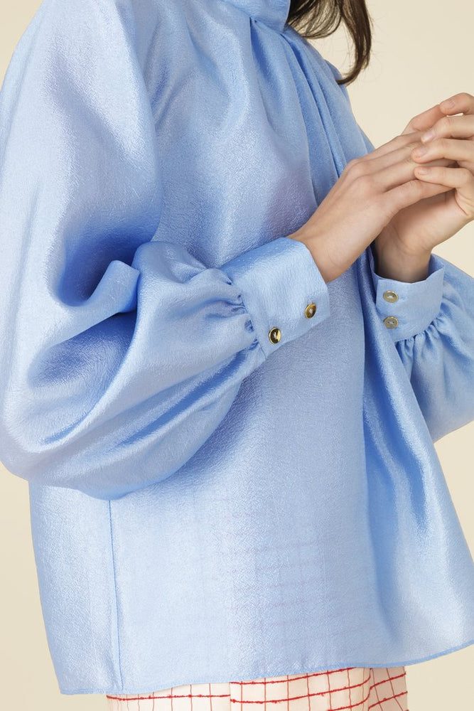 Load image into Gallery viewer, Stine Goya Eddy Blouse Sky Blue