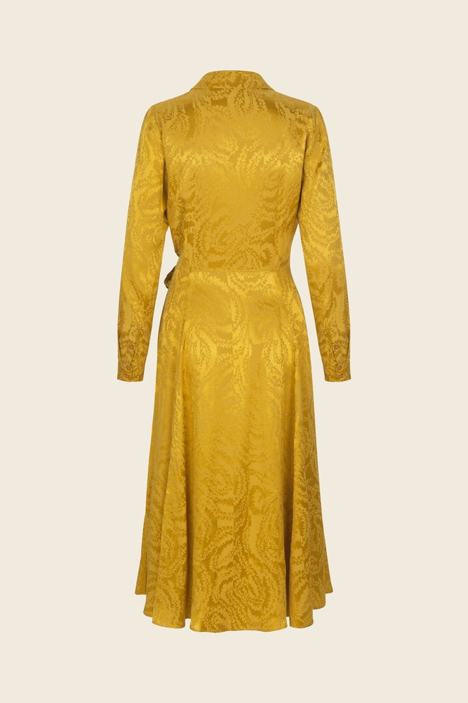 Stine Goya Baily Dress Yellow Swirl